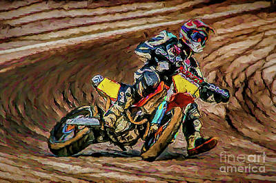 Photograph - Motorcycle Speedway A8-20 by Ray Shrewsberry