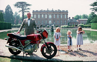 Mode Of Transport Photograph - Motorcycling Lord by Slim Aarons