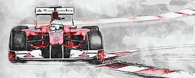 Sports Paintings - Motorsport - 08 by AM FineArtPrints