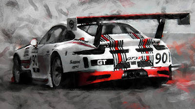 Juan Bosco Forest Animals Royalty Free Images - Porsche GT3 Martini Racing Livery - 17 Royalty-Free Image by AM FineArtPrints