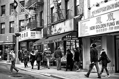 Photograph - Mott Street Days New York City by John Rizzuto
