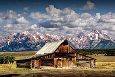 Photograph - Moulton Barn On Mormon Row In The Grand Tetons by Randall Nyhof