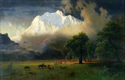 Painting - Mount Adams, Washington by Albert Bierstadt