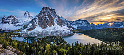 Photograph - Mount Assiniboine Panorama by Inge Johnsson