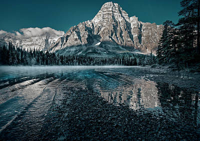 Photograph - Mount Chephren Reflected by Dan Jurak