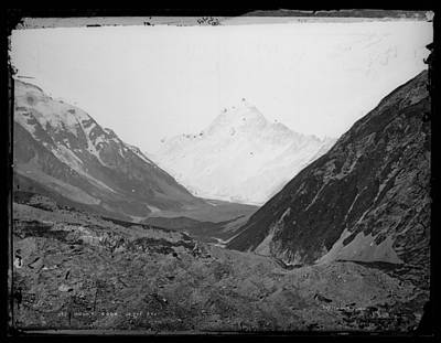 Painting - Mount Cook 12 375 Feet 1875, Dunedin, By Burton Brothers Studio, Alfred Burton by Celestial Images