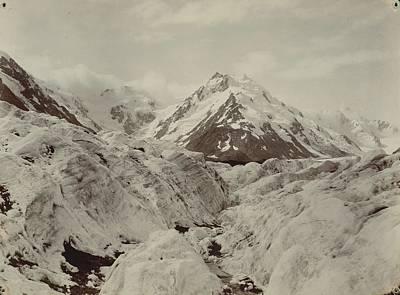 Painting - Mount De La Beche From The Tasman Glacier , Burton Brothers Studio Photography Studio 1893 by Celestial Images