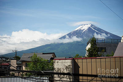 Photograph - Mount Fuyji From A Window by Lukas Kerbs