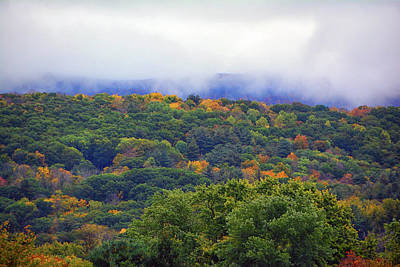 Art Print featuring the photograph Mount Greylock In The Clouds by Raymond Salani III