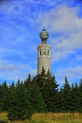 Photograph - Mount Greylock Tower From Bascom Lodge by Raymond Salani III