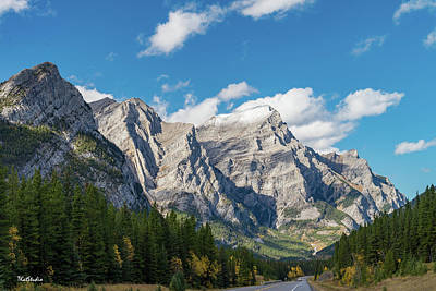 Photograph - Mount Kidd In Alberta Canada by Tim Kathka