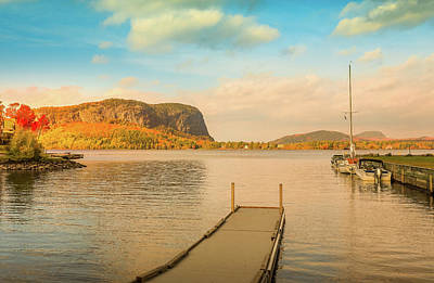 Photograph - Mount Kineo Dock by Dan Sproul