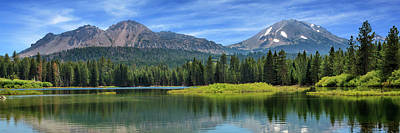 Photograph - Mount Lassen And Manzanita Lake Panorama by James Eddy