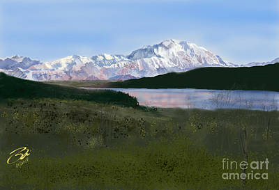 Digital Art - Mount Mckinley From Wonder Lake  by Joel Deutsch