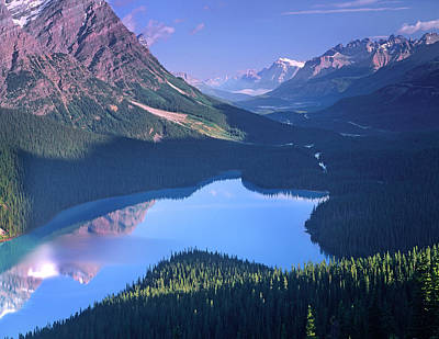 Photograph - Mount Patterson At Peyto Lake, Banff by Tim Fitzharris/ Minden Pictures