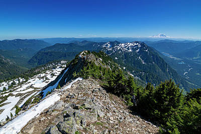 Royalty-Free and Rights-Managed Images - Mount Rainier from Alta Mountain 2 by Pelo Blanco Photo