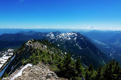 Royalty-Free and Rights-Managed Images - Mount Rainier from Alta Mountain by Pelo Blanco Photo