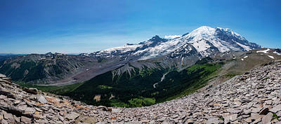 Royalty-Free and Rights-Managed Images - Mount Rainier from Burroughs Mountain by Pelo Blanco Photo