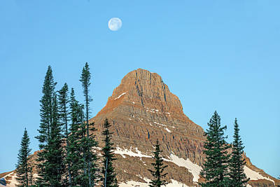 Photograph - Mount Reynolds Moon by Todd Klassy