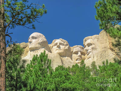 Photograph - Mount Rushmore South Dakota by Benny Marty