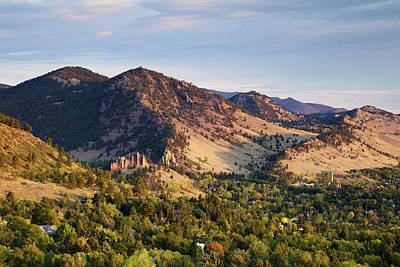 Autumn Photograph - Mount Sanitas And Fall Colors In by Beklaus