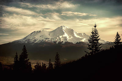 Photograph - Mount Shasta Waking Up by Marnie Patchett