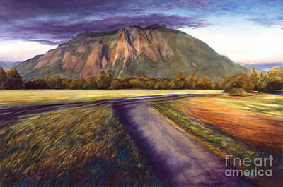 Painting - Mount Si at Sunset by Jacqueline Tribble