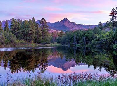 Classic Golf - Mount Sneffels at Sunset by Judi Dressler