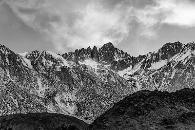 Photograph - Mount Whitney In Black And White by PhotoWorks By Don Hoekwater