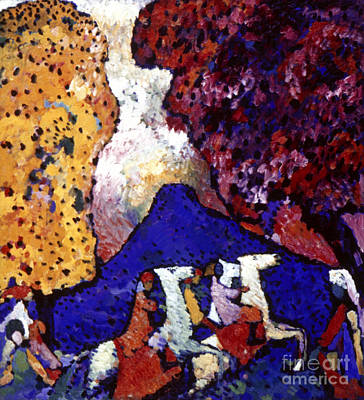 Photograph - Mountain, 1908 by Wassily Kandinsky