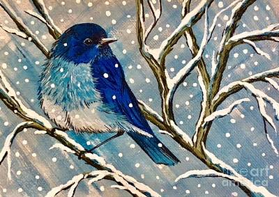 Painting - Mountain Bluebird Storm by Jennifer Lake