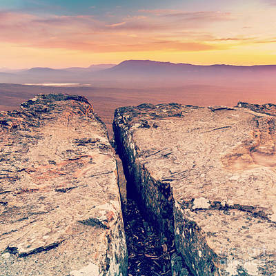 Mountain Royalty-Free and Rights-Managed Images - Mountain Cliff Top by Tim Hester