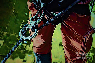 Painting - Mountain Climber A18-1 by Ray Shrewsberry