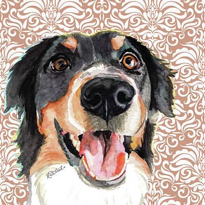 Painting - Mountain Dog by Jennifer Redstreake