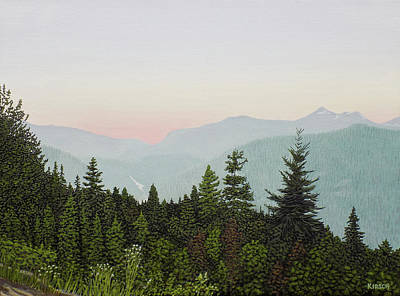 Painting - Mountain Dusk by Kenneth Kirsch