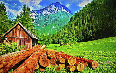Painting - Mountain Home A18-14 by Ray Shrewsberry