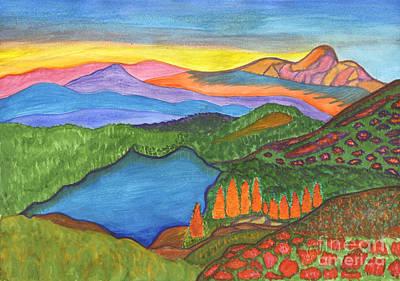 Painting - Mountain Lake. Landscape Painting by Irina Dobrotsvet