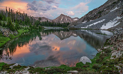 Photograph - Mountain Lake Sunset by Leland D Howard