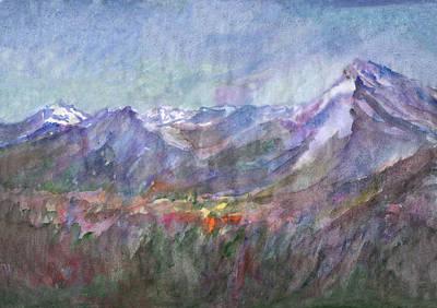 Painting - Alpine Meadows In The Spring by Irina Dobrotsvet