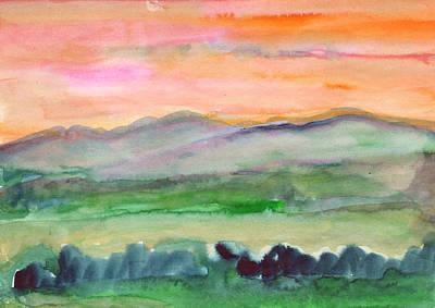 Painting - Mountain Landscape In The Morning Fog by Irina Dobrotsvet