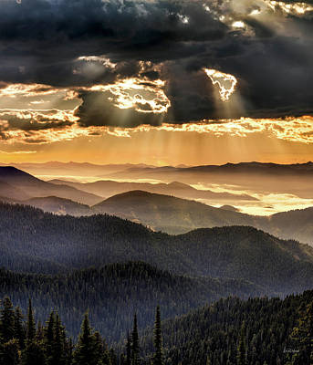Photograph - Mountain Layers by Leland D Howard