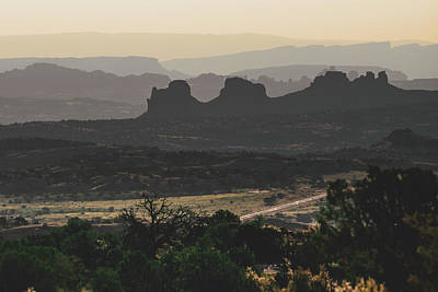 Photograph - Mountain Layers Of Moab Utah by Gregory Ballos