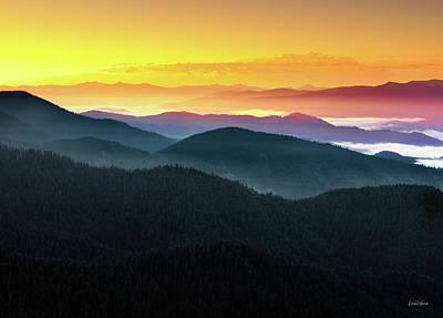 Photograph - Mountain Layers Sunrise by Leland D Howard