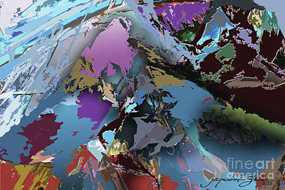Digital Art - Mountain Majesty by Jacqueline Shuler
