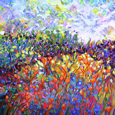 Wall Art - Painting - Mountain Meadow #1 by Charles Wallis