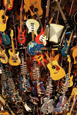 Photograph - Mountain Of Guitars R994 by Wingsdomain Art and Photography