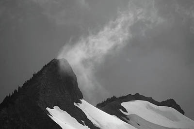 Photograph - Mountain Peak With Cloud by Yulia Kazansky