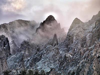 Photograph - Mountain Peaks by Leland D Howard