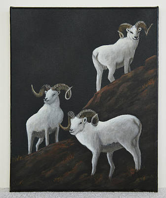 Painting - Mountain Rams by Gloria Johnson