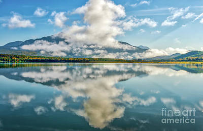 Photograph - Mountain Reflections In A Vivid Blue Glacial Lake On The Alaskan by Patrick Wolf